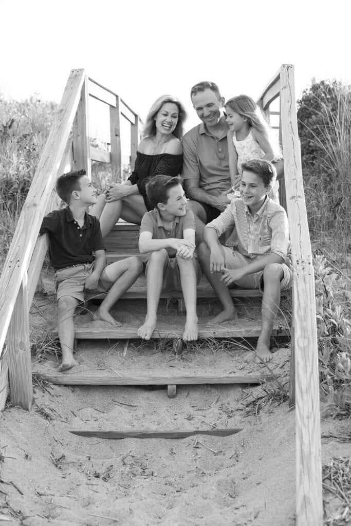 Family beach portraits in Duck NC, Duck NC photographer
