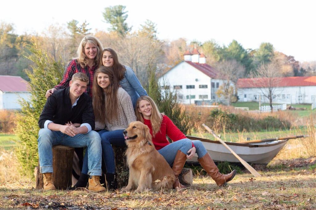 Family in Loudoun County Autumn setting