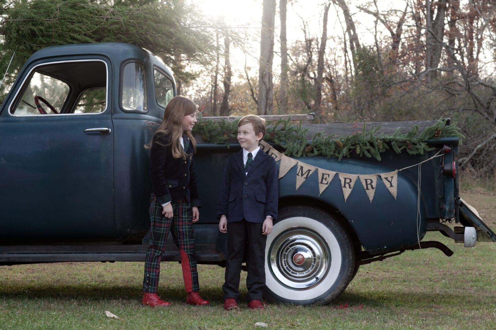 Old truck Christmas photo Loudoun County