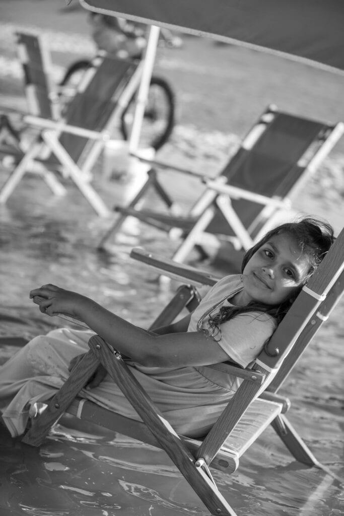 girl in beach chair OBX