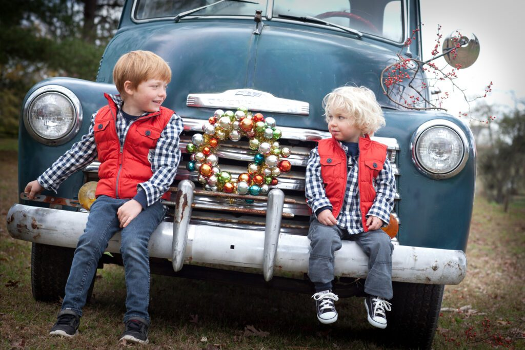 Vintage truck with holiday theme Loudoun County