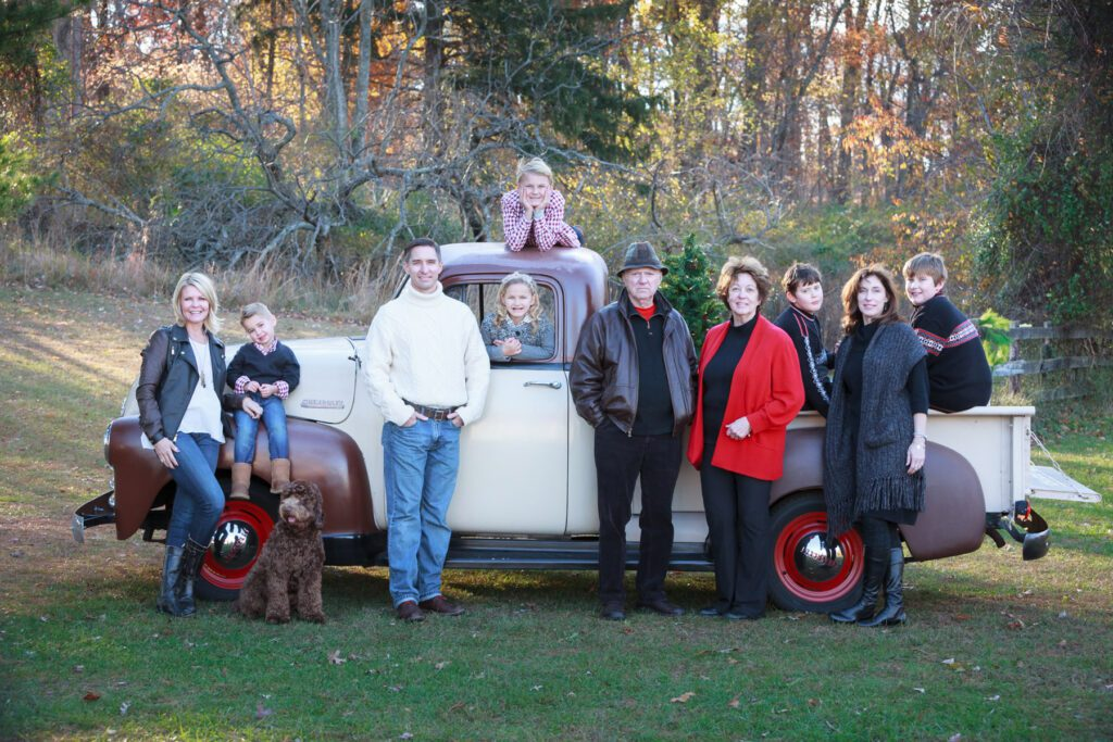 Family style rustic holiday photo